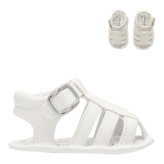 Baby White Leather Sandals (15-19)