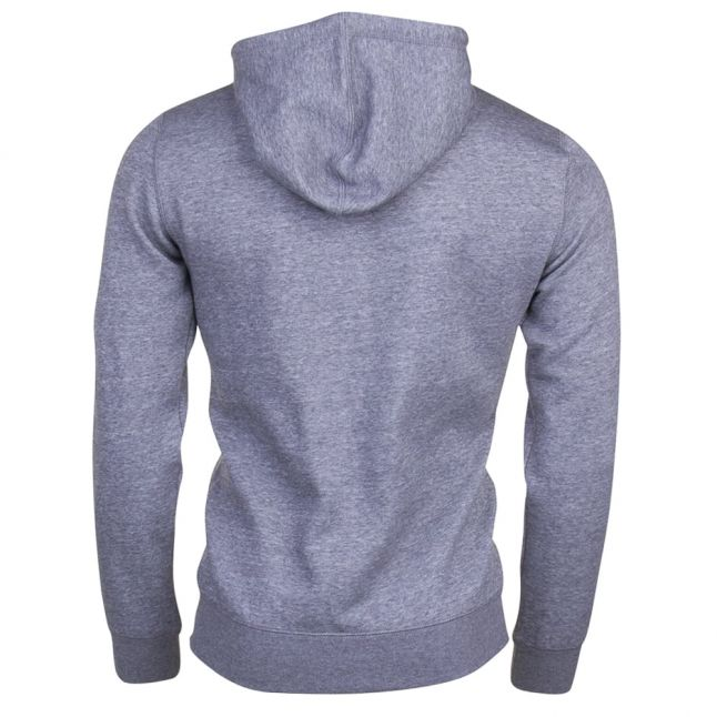 Mens Grey Small Logo Zip Hooded Sweat Top