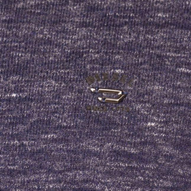 Mens Navy Marl K-Maniky Crew Knitted Jumper