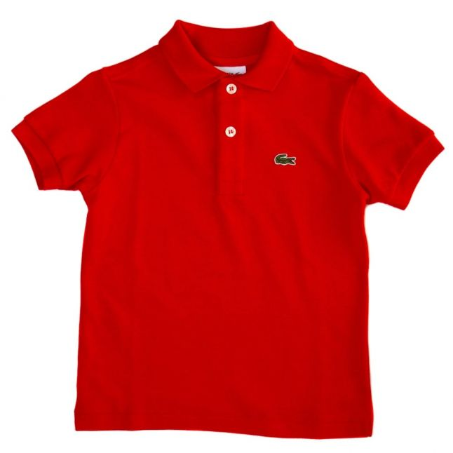 Boys Red Classic S/s Polo Shirt