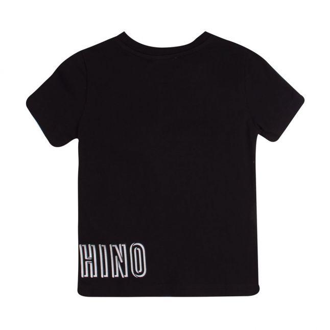 Boys Black Wrap Around Logo S/s T Shirt