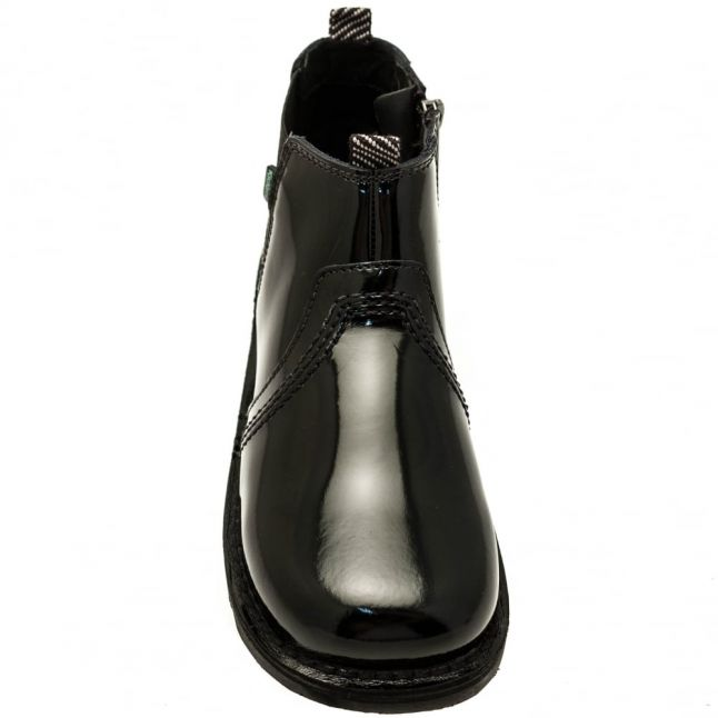 Youth Black Patent Leather Kick Chels (3-6)