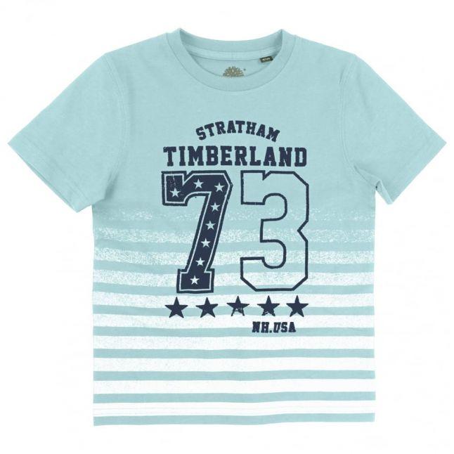 Boys Blue Striped S/s Tee Shirt