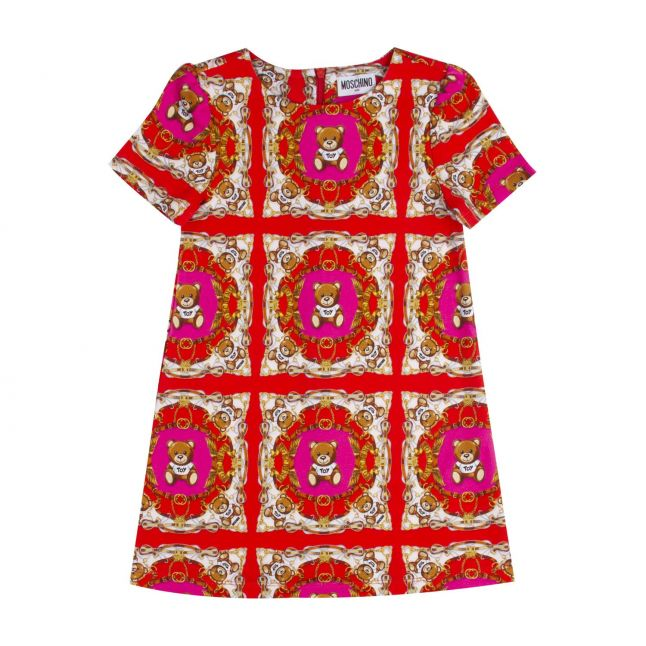 Moschino Girls Red Fancy Toy Print Dress