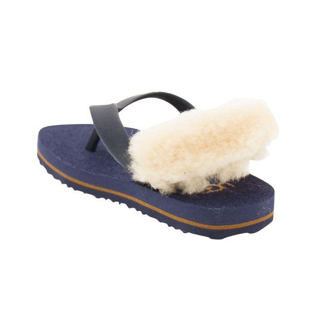 Infant Medieval Blue & Chestnut Yia Yia Flip Flops