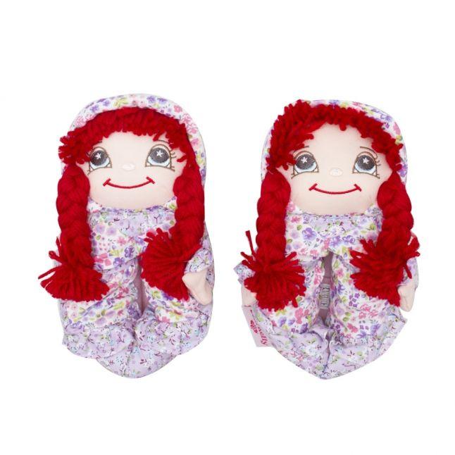 Girls Red Hair Doll Slippers (24-36)