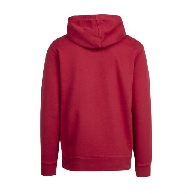 Mens Earth Red Graphic Tonal Logo Hoodie