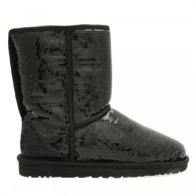 Australia Womens Black Classic Short Sparkles Boots