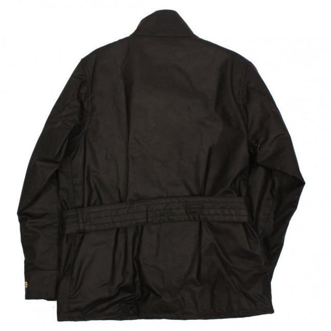 Boys Black Union Jack International Waxed Jacket