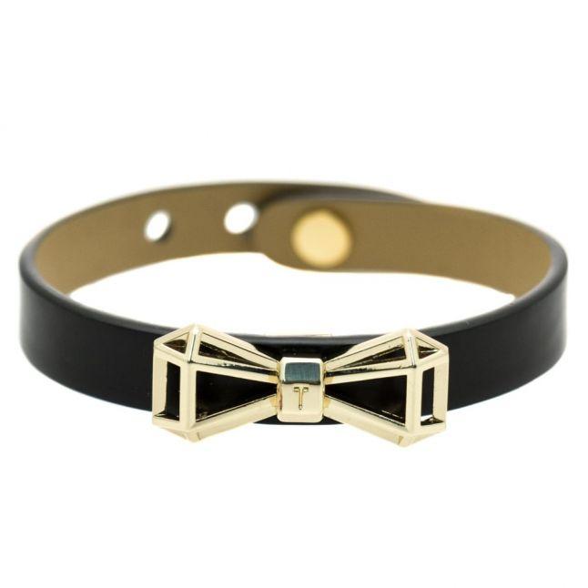 Womens Black Addaley Geometric Bow Bracelet