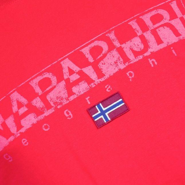 Mens Bright Red Sapriol S/s Tee Shirt