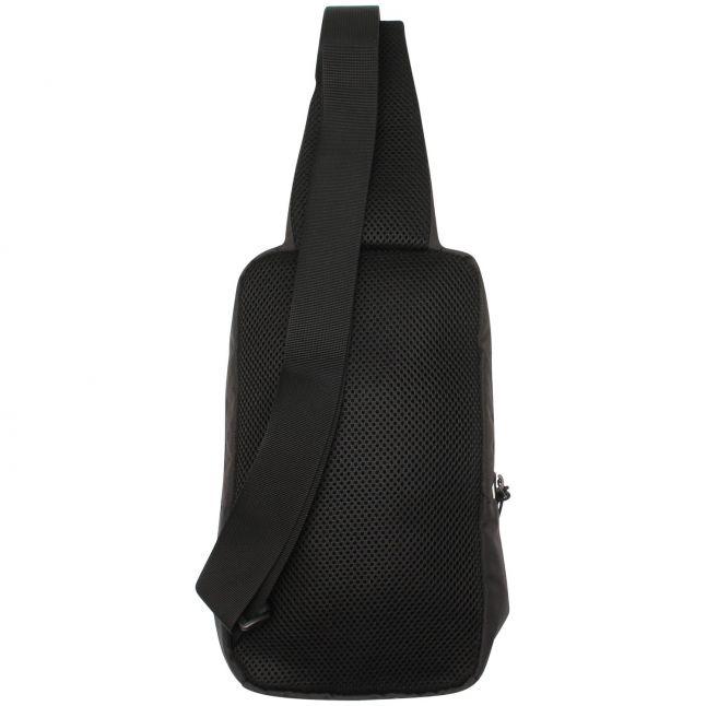 Mens Black/White Logo Small Backpack Bumbag