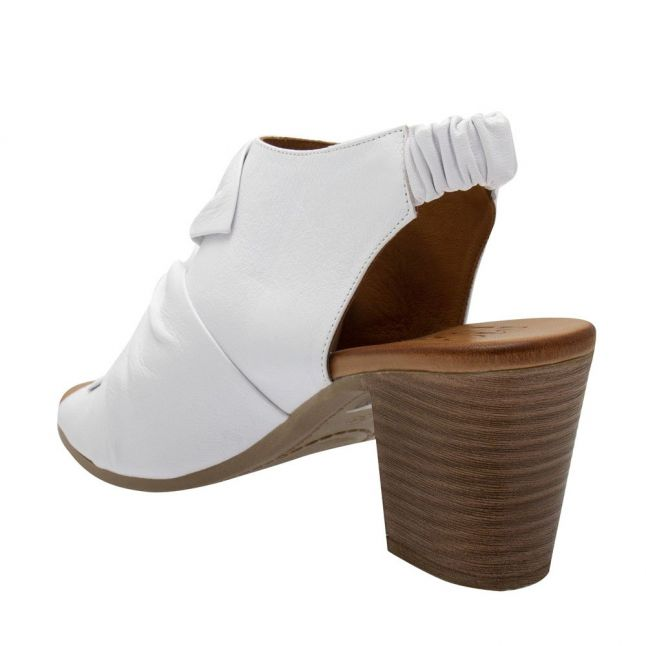 Womens White Levella Knot Heeled Sandals