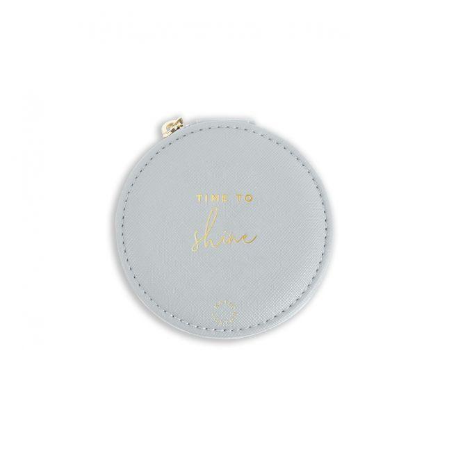 Womens Grey Shine Circle Jewellery Box