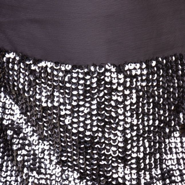 Womens Jet Black Spirit Sequin Dress