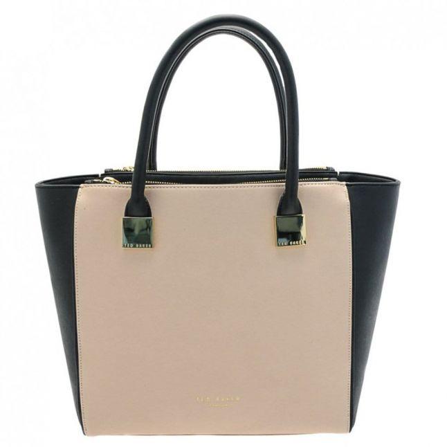 Womens Taupe Teryn Crosshatch Shopper Bag
