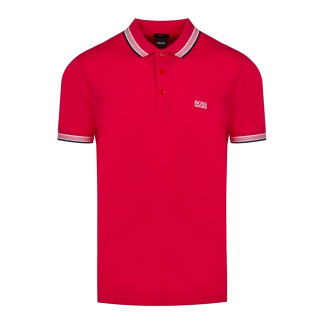Athleisure Mens Red Paddy Regular Fit S/s Polo Shirt