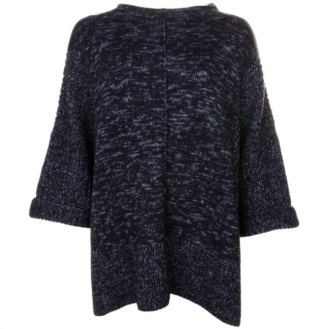 Womens Black Helical Knitted Jumper