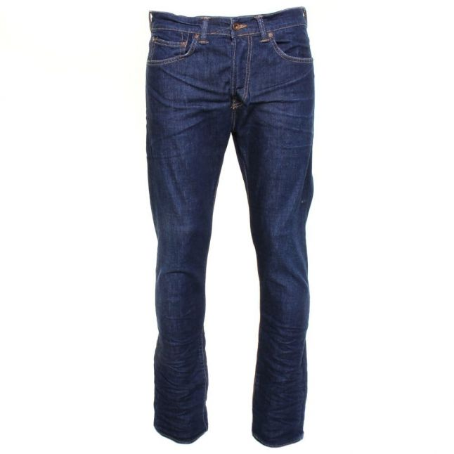 Mens 12.5oz Blue Soak Wash ED-80 Slim Tapered Fit Jeans
