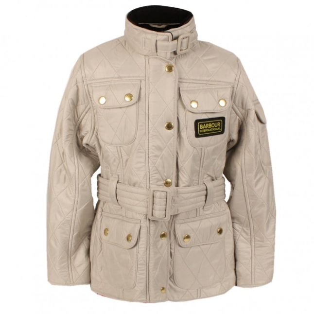 Girls International Polar Quilt Jacket in Pearl