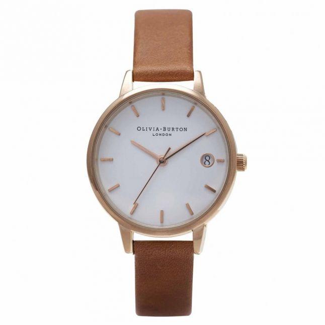 Womens Tan & Rose Gold The Dandy Watch