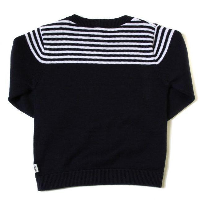 Baby Navy Stripe Detail Jumper