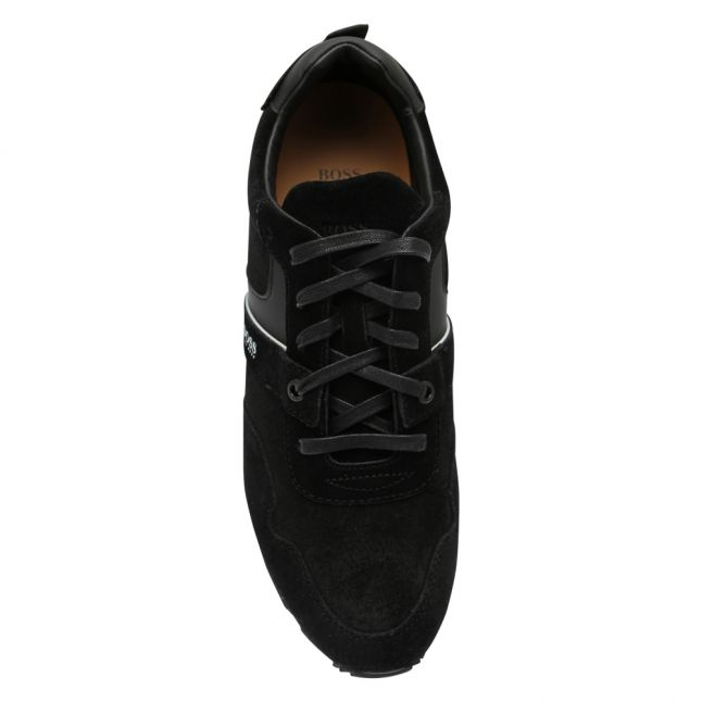 Athleisure Mens Black Parkour Runn Suede Trainers