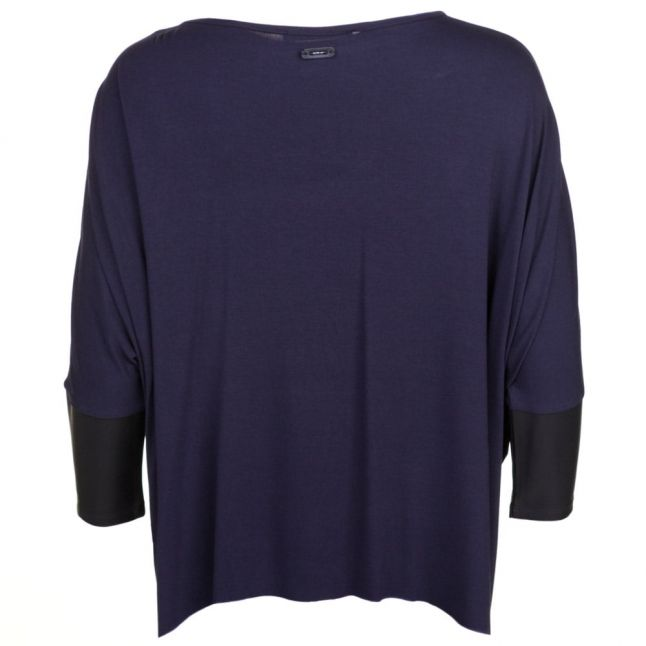 Womens Navy Oversized Style Top