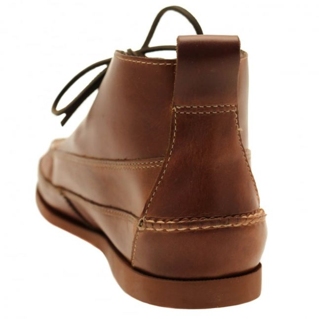 Mens Mid Brown Camp Moc Ranger Boots