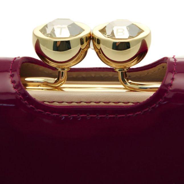 Womens Grape Kassady Patent Leather Matinee Purse