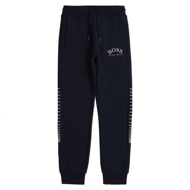 Boys Navy/Silver Embroidered Logo Sweat Pants