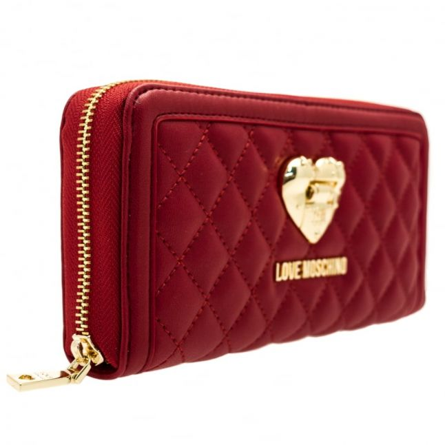 Womens Dark Red Quilted Purse