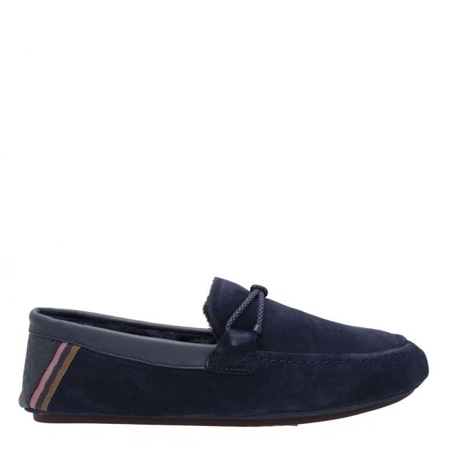 Mens Navy Seffel Moccasin Slippers