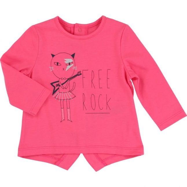 Baby Pink Free Rock L/s Tee Shirt