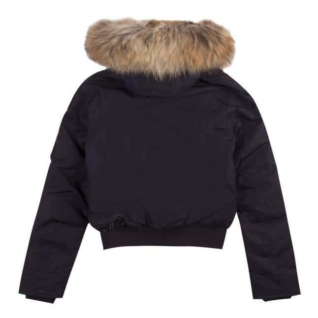Girls Navy Gobi Down Fur Hooded Jacket