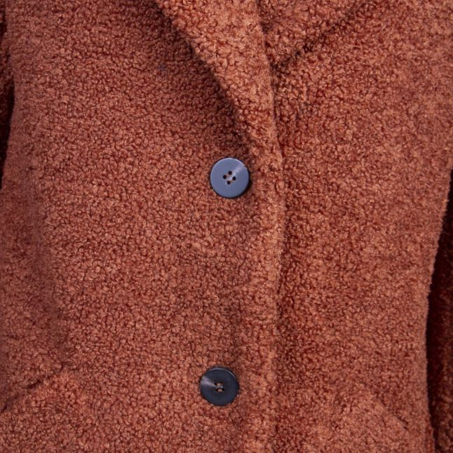 Womens Tortoise Shell Viliosi Teddy Coat