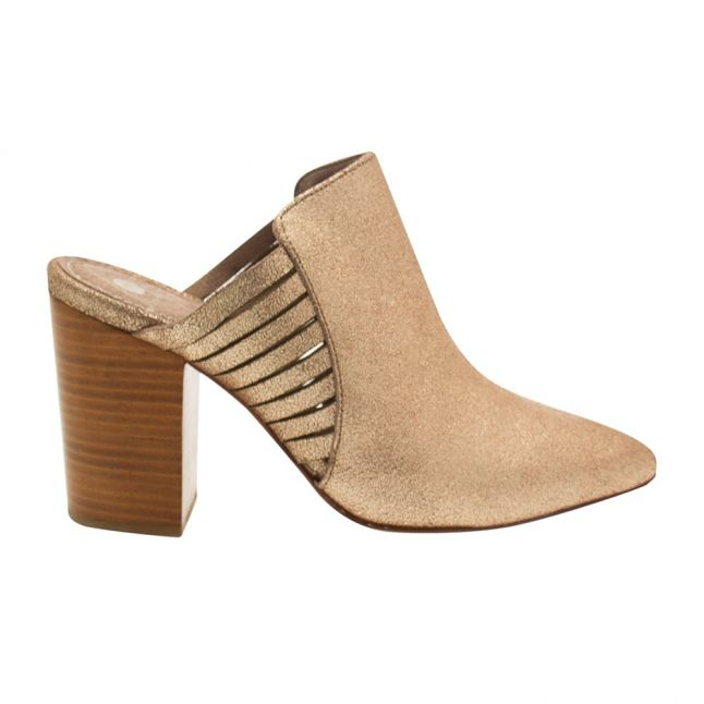 Womens Gold Audny Suede Mule