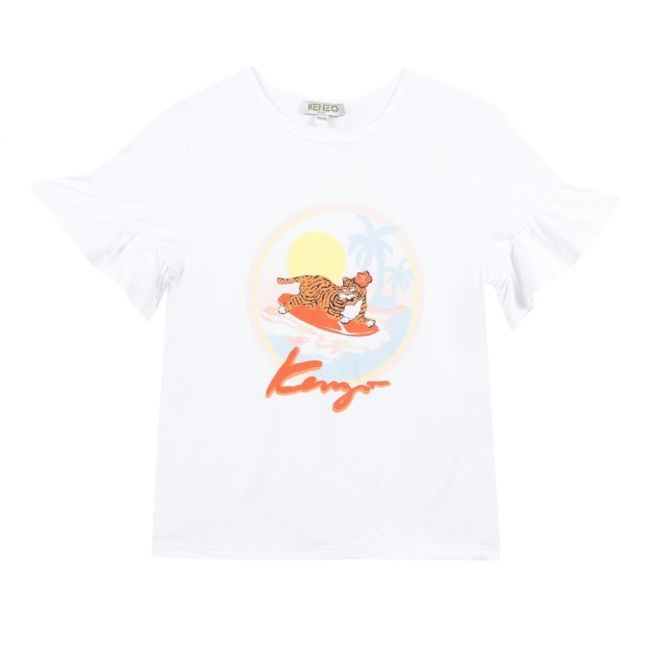 Junior Optic White Felicia Tiger S/s T Shirt
