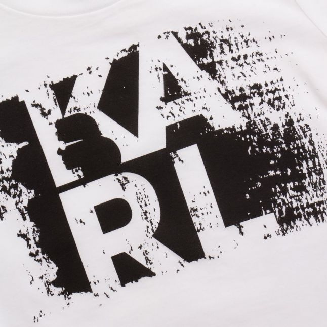Karl Lagerfeld Boys Blanc White KARL S/s Tee Shirt