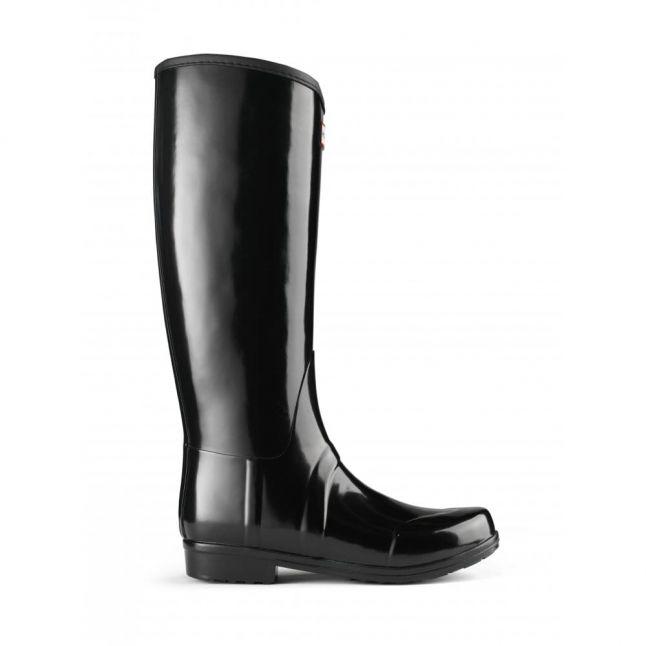 Womens Black Sandhurst Nylon Wellington Boots