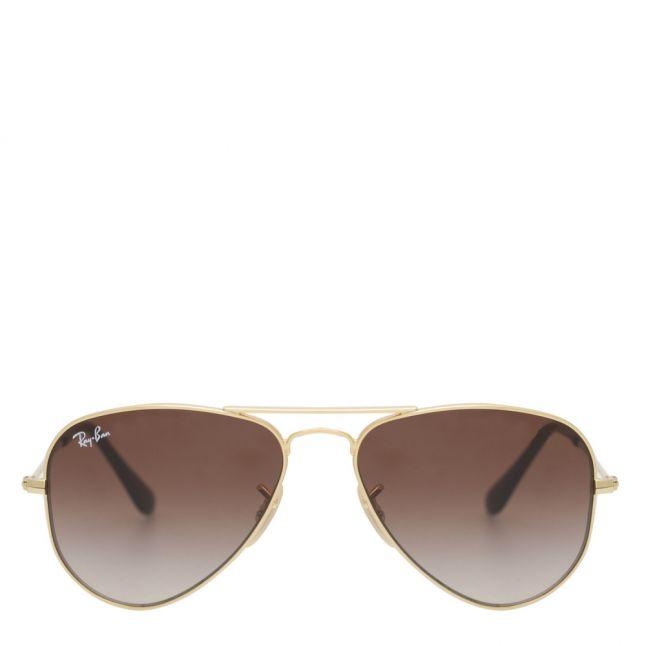 Junior Gold/Brown RJ9506S Aviator Sunglasses