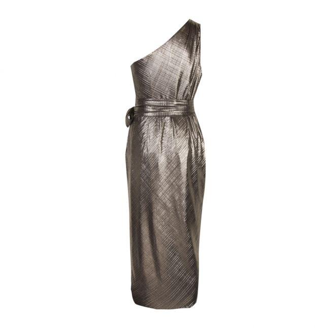 Womens Gold Gabria One Shoulder Dress