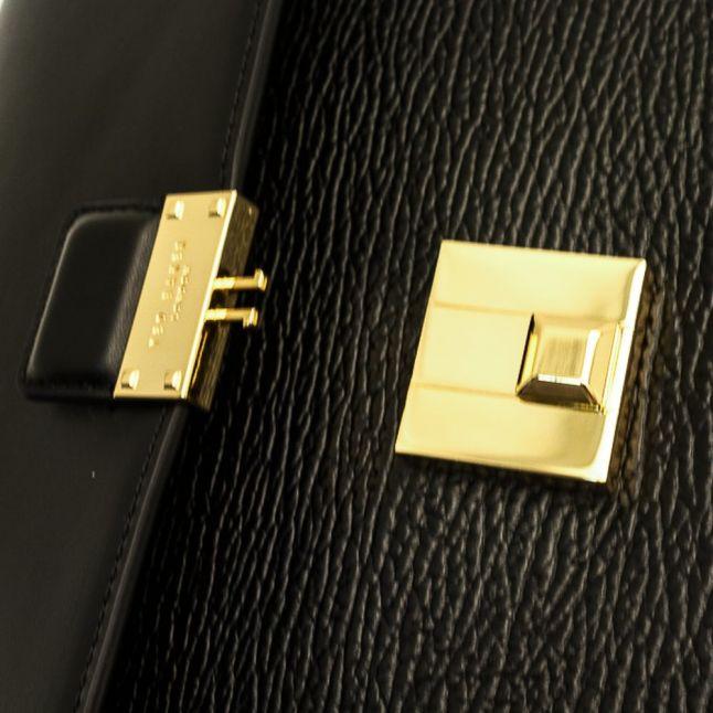 Womens Black Bevan Luggage Lock Bag