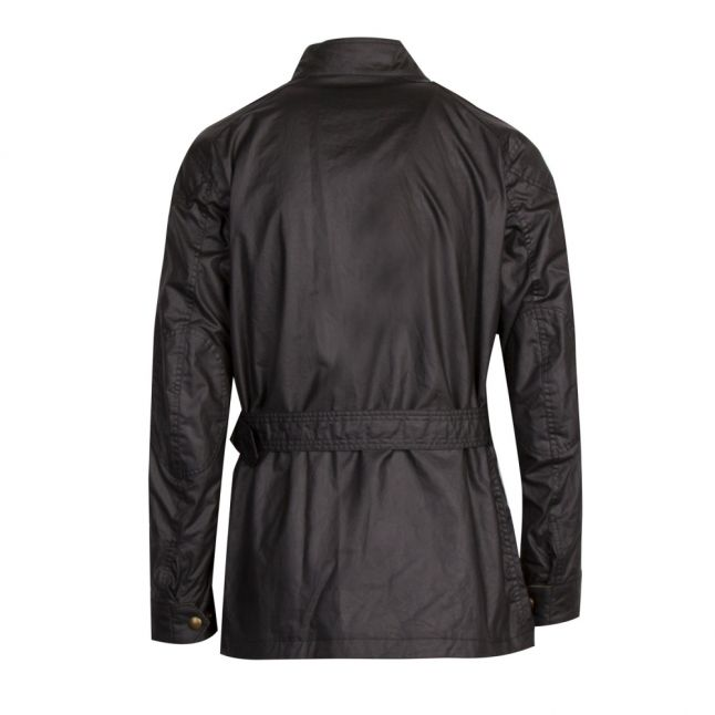 Mens Black Trialmaster 6oz Waxed Jacket