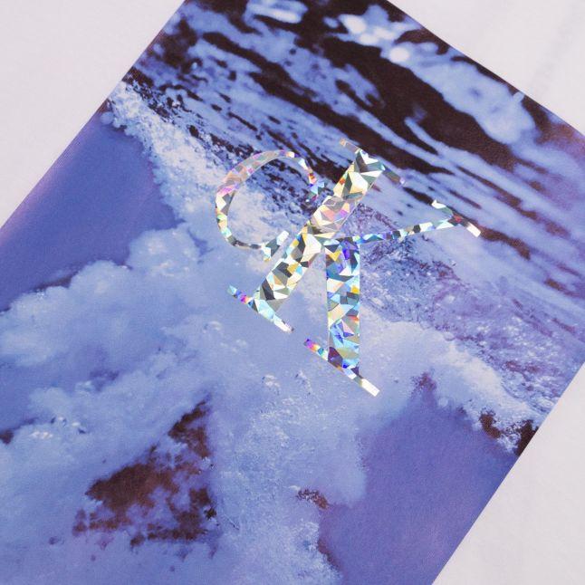 Calvin Klein Womens Bright White Water Photo Logo S/s T Shirt