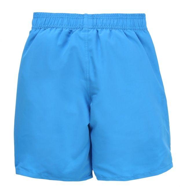 Boys Bright Blue Branded Leg Swim Shorts