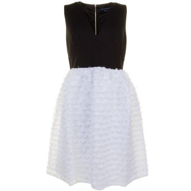 Womens Winter White & Black Summer Sky Dress