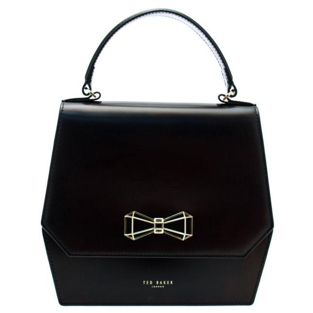 Womens Black Gerri Geometric Bow Top Handle Bag
