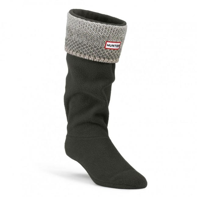 Womens Grey Tall Birds Eye Welly Sock