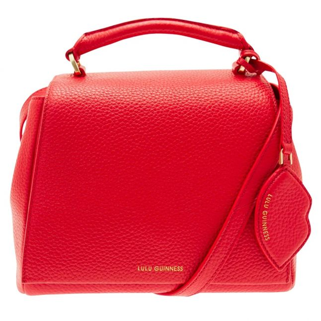 Womens Red Grainy Leather Small Rita Bag